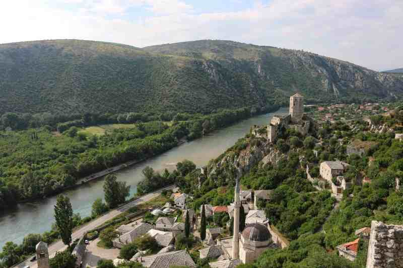 day trip from Mostar, Pocitelj village and view