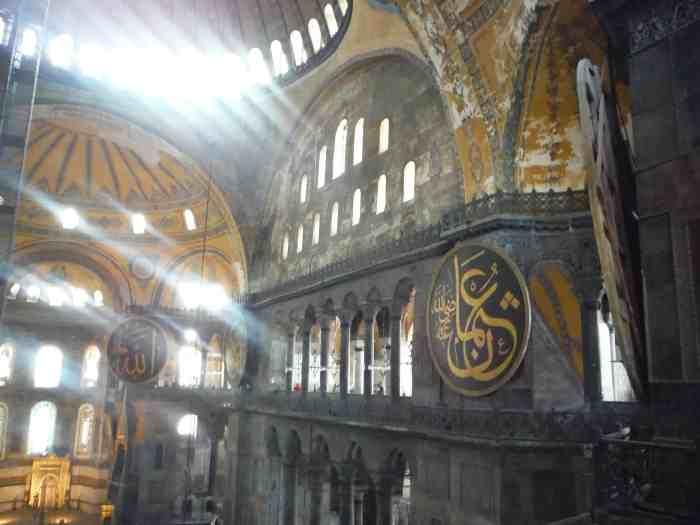 3 day Istanbul itinerary, Inside Hagia Sophia