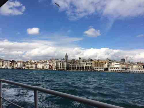 visiting the asian side of istanbul from the european side boat