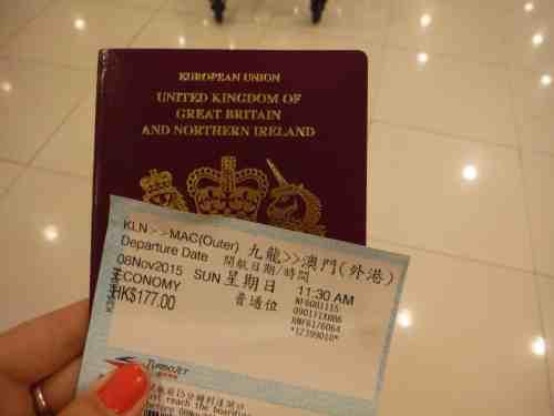 Day trip from Hong Kong to Macau