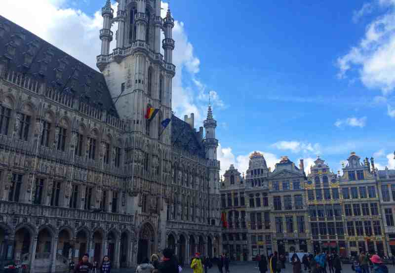 3 days in Belgium, Buildings in Brussel's Grand Place
