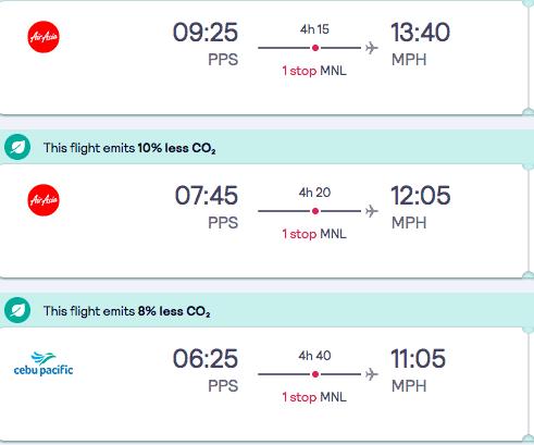 El Nido to Boracay flights