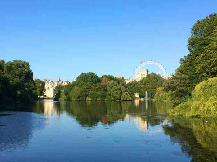 picnic in a london park with a city view st james