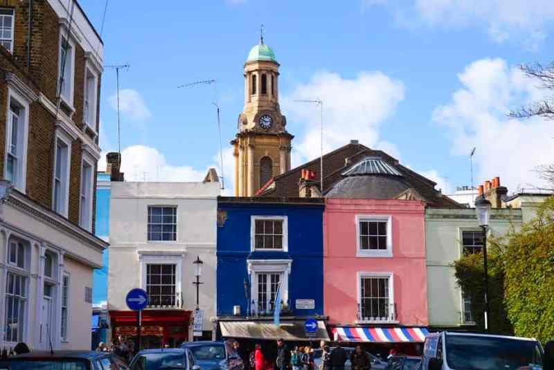 3 Day London Itinerary, Nottinghill Houses