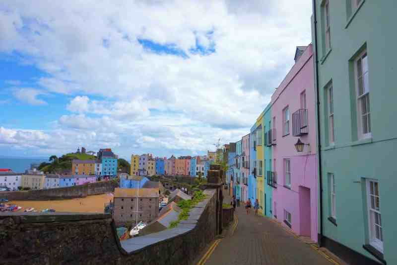 Colourful Tenby Houses | Saundersfoot to Tenby