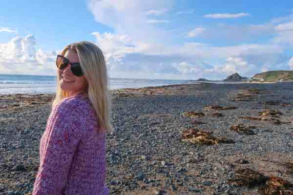 Jersey British Isles weekend guide St Ouen Bay girl