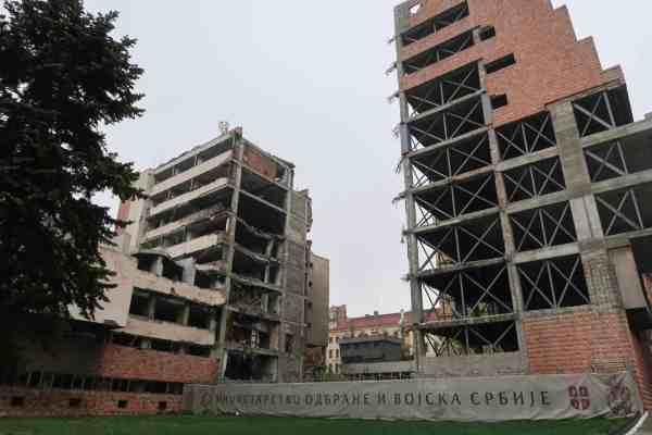 things to do in Belgrade, belgrade bombed buildings