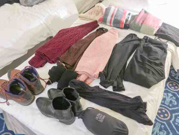 winter packing list girls clothes