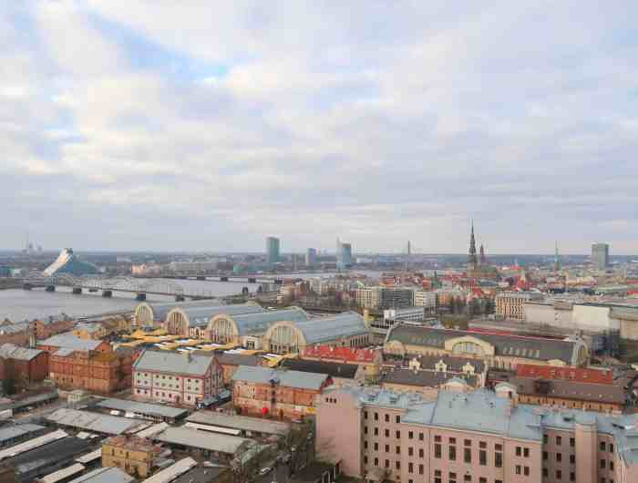 Riga Viewpoints panoramic view academy of sciences