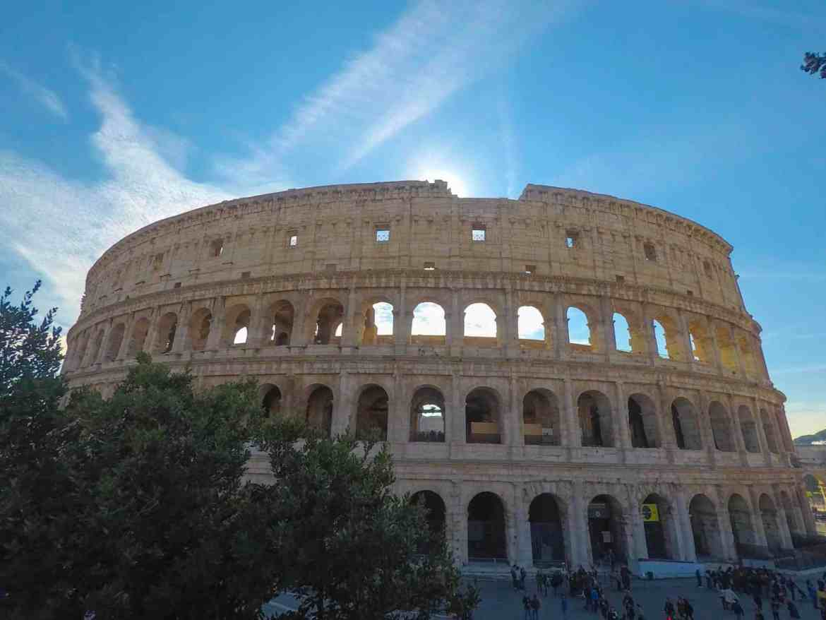 backpacking Italy on a budget, Rome in Spring Blue Skies