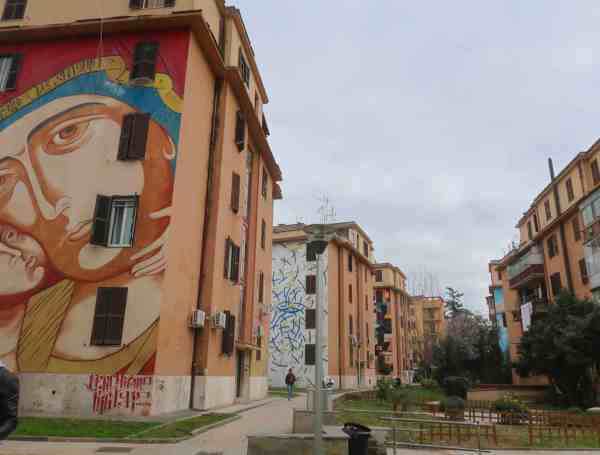 The RomeHello Hostel street art