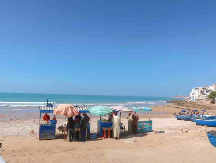 Taghazout Morocco Guide beach local men