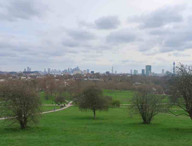 Regents Canal Walk, Primrose Hill View over London