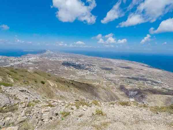 Quad Biking around Santorini Greece Mountain peak