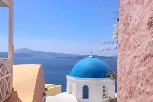 Quad Biking around Santorini Greece Oia