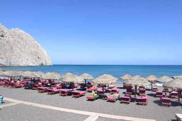 Quad Biking around Santorini Greece Perissa Beach