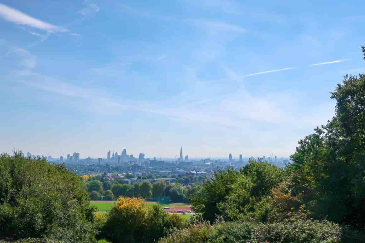 View of London from Parliament Hill Hampstead | what to do on Hampstead Heath
