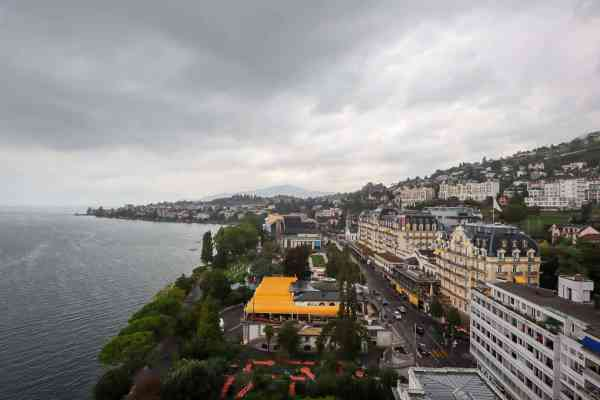 Montreux to Lausanne Eurotel Hotel view