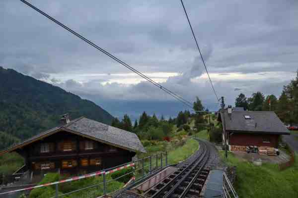 Montreux to Lausanne mountain view