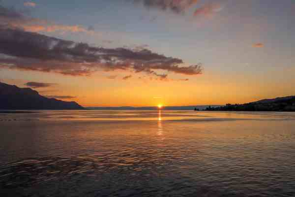Montreux to Lausanne sunset cruise