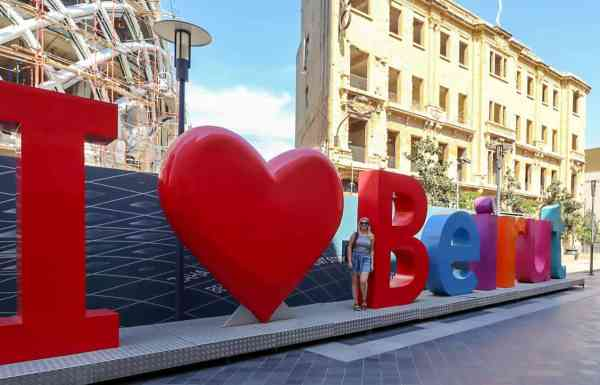 Beirut things to do I love beirut sign