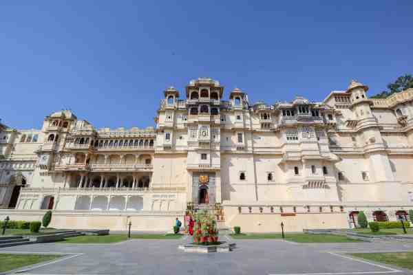 Udaipur City Palace from outside