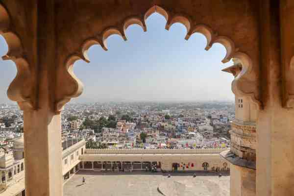 Udaipur City Palace City View