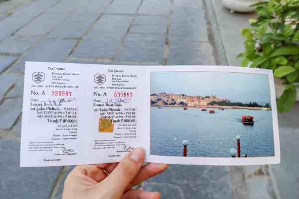 Lake Pichola Boat Trip tickets