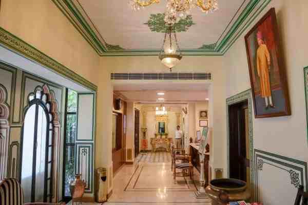 Shahpura House Hotel Jaipur reception