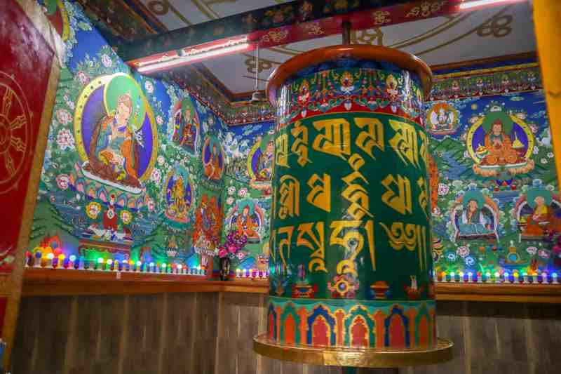 prayer wheel at The Dalai Lama Temple Mcleod Ganj | how to see the dalai lama in India