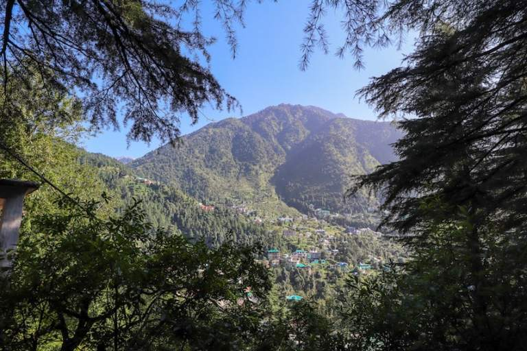 Mountain view from Dharamkot | best places to visit in India