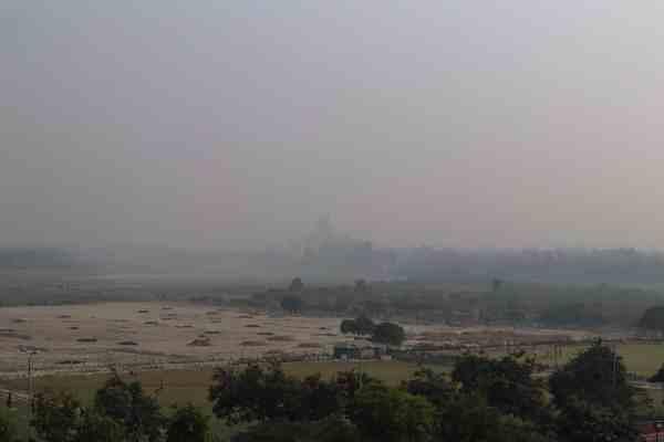 Agra Fort Taj Mahal View