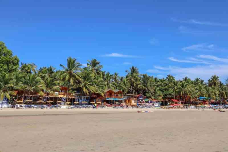 Palolem Beach with blue sky Goa | 2 week south india itinerary