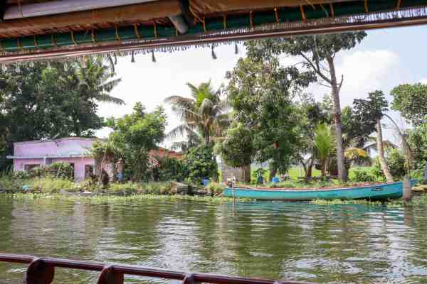 Kerala Backwaters from Alleppey canoe