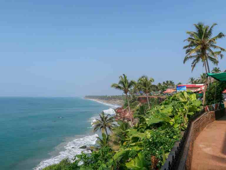 best places to visit in India, Varkala Beach Cliffside