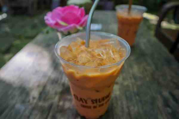 Clay Studio Coffee in the Garden - but Thai Iced Tea!