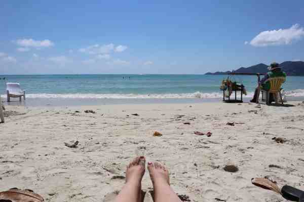 visiting koh samui on a budget beach