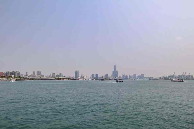 Kaohsiung to Cijin Island, Cijin Island Kaohsiung Taiwan Ferry View