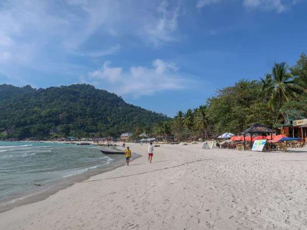 Perhentian Small Kecil Island Travel Guide long beach