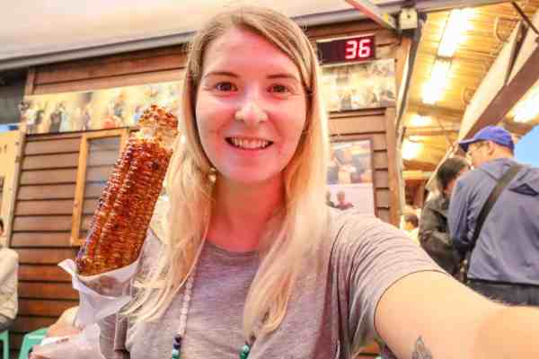 vegetarian food taiwan night markets corn on the cob