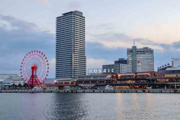 things to do in kobe, places to eat in kobe mosaic harbour land