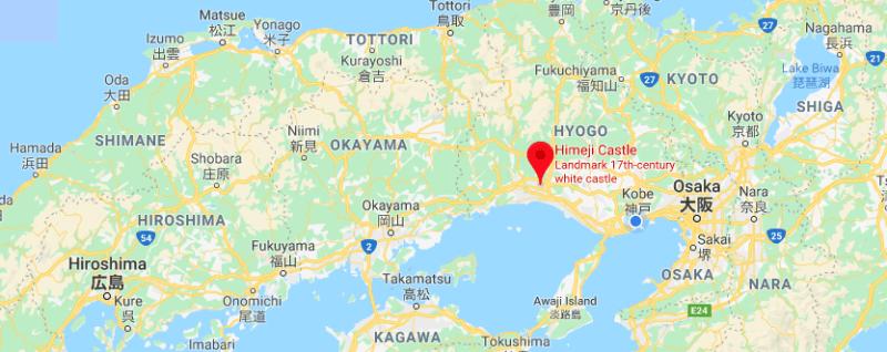 Himeji day trip, Hiroshima to Himeji