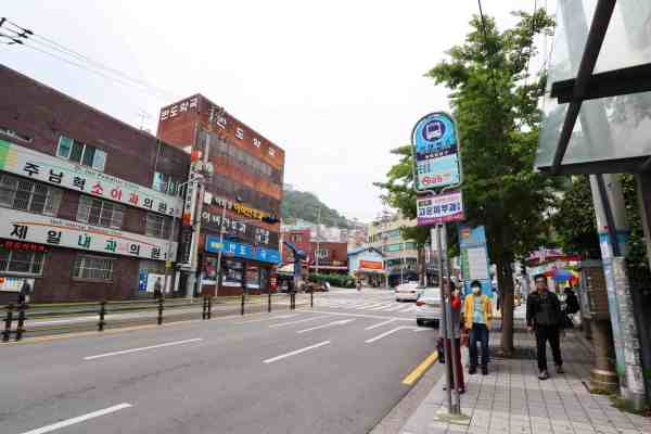 bus stop for Gamcheon Culture Village