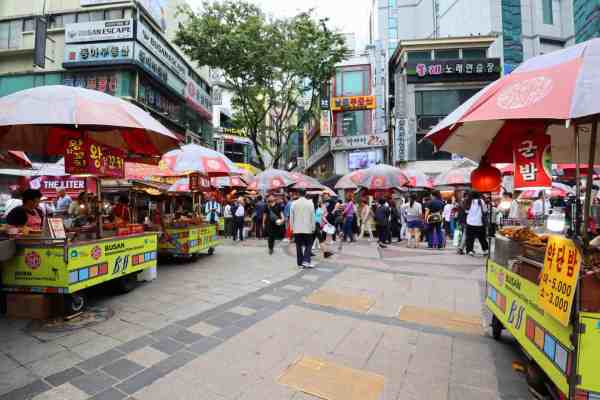 10 day south korea itinerary BIFF Square Busan