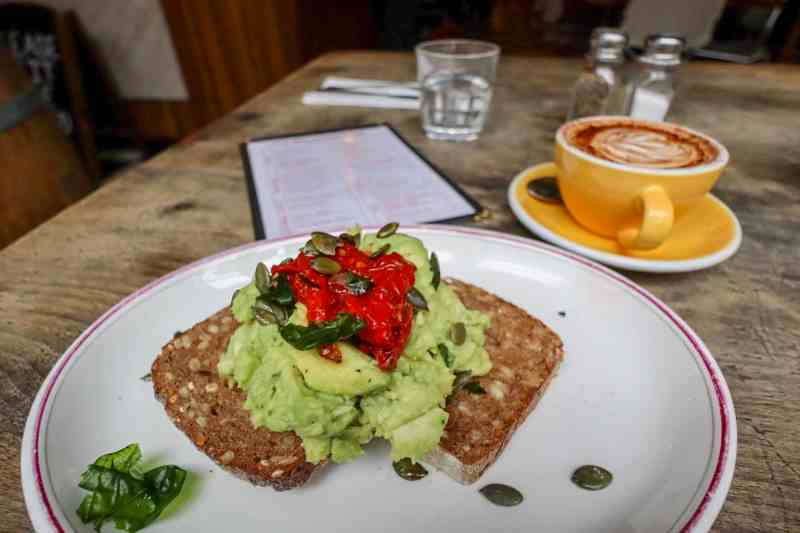 places to visit in Shoreditch The Breakfast Club Hoxton inside Avocado on Rye Bread