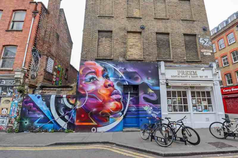 places to go in Shoreditch, Hanbury Street Art