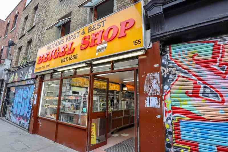 places to go in Shoreditch, Brick Lane Yellow Beigel Shop