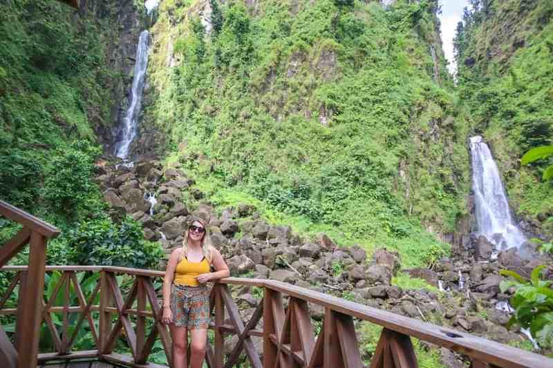 dominica travel guide, Trafalgar falls dominica and ellie quinn