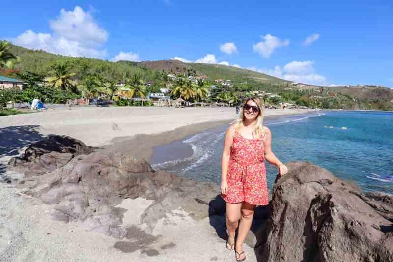 ellie quinn on mero beach dominica   dominica travel guide