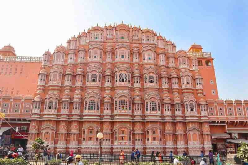 Haha Mahal in Jaipur with Blue Sky | 2 week India itinerary